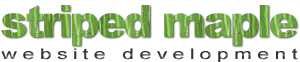 striped maple web development